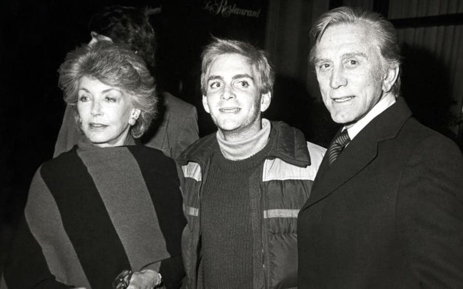Anne Douglas, Eric Douglas, and Kirk Douglas