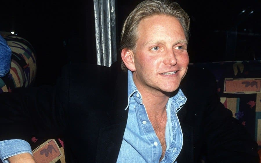 Eric Douglas at Playgirl party, New York, 1994.