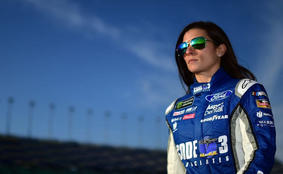 Danica Patrick looking into the distance