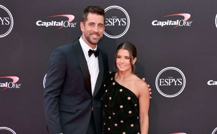 Aaron and Danica on the red carpet in 2018