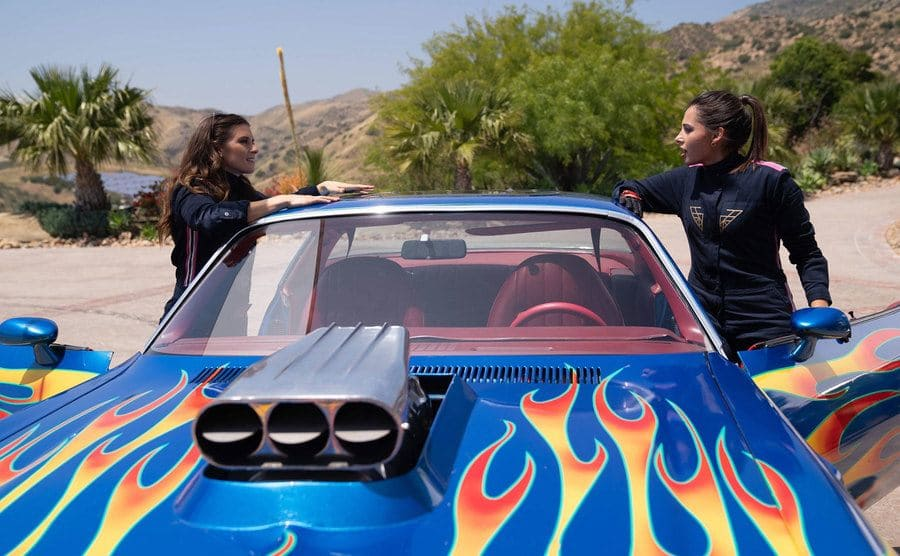 Danica Patrick as a driving instructor in a scene from Charlie's Angels