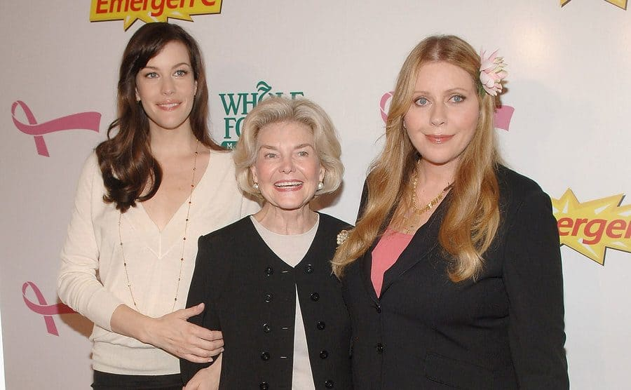 Liv Tyler, Bebe Buell and Dorothea Johnson arrive to Kick Off Breast Cancer Awareness Month.