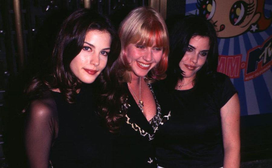 Liv Tyler, Bebe Buell & Mia Tyler during The 12th Annual MTV Video Music Awards at Radio City Music Hall.