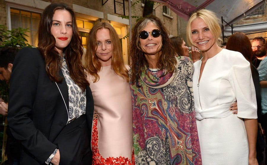 Liv Tyler, Stella McCartney, Steven Tyler and Cameron Diaz attend the Stella McCartney Spring 2014 Collection Presentation.