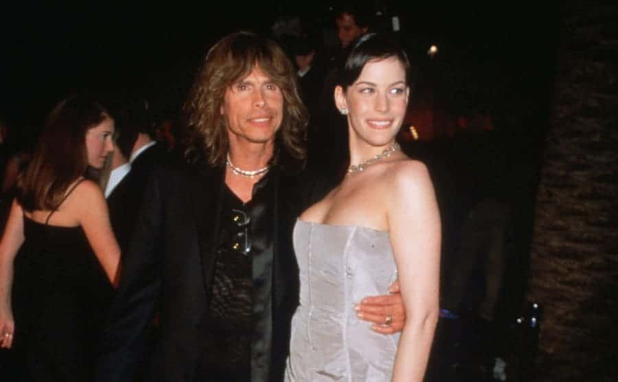 Liv and Steven Tyler attend the Vanity Fair Oscar party on March 21, 1999.