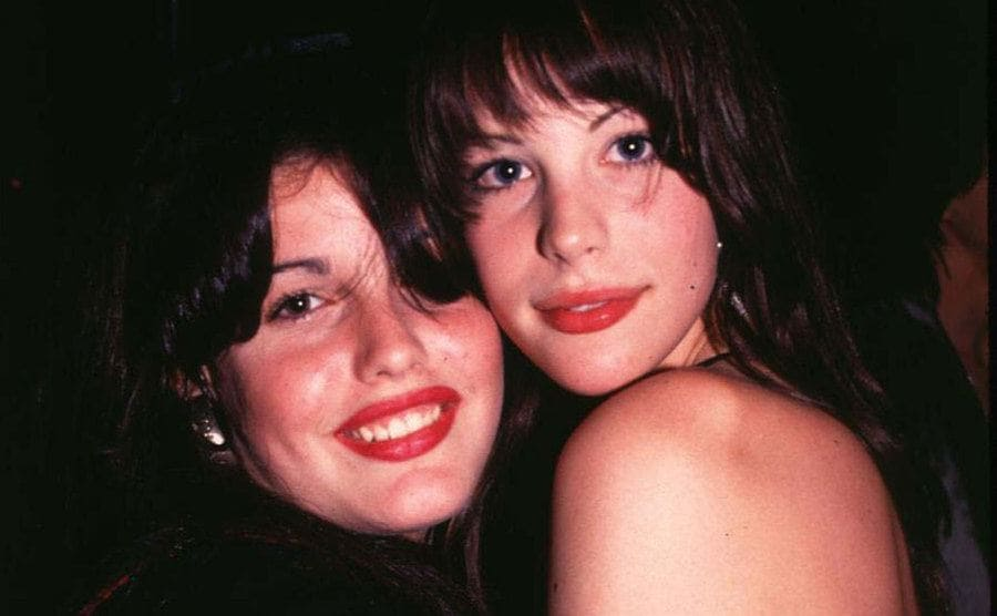 Mia Tyler and Liv Tyler at Liv's 16th birthday party.