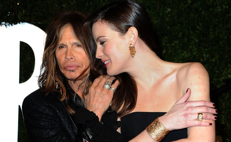 Steven Tyler and actress Liv Tyler attend the 2011 Vanity Fair Oscar Party.