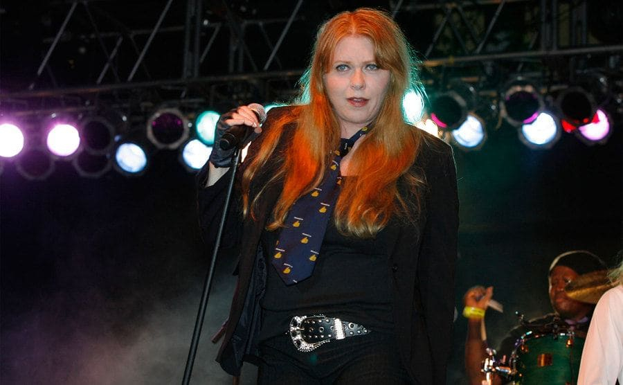 Bebe Buell performs at the LBGT Pride festival held on June 10, 2007.