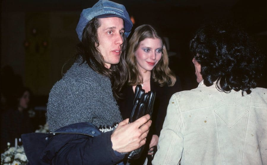 Todd Rundgren and singer Bebe Buell at a party in New York in 1976.
