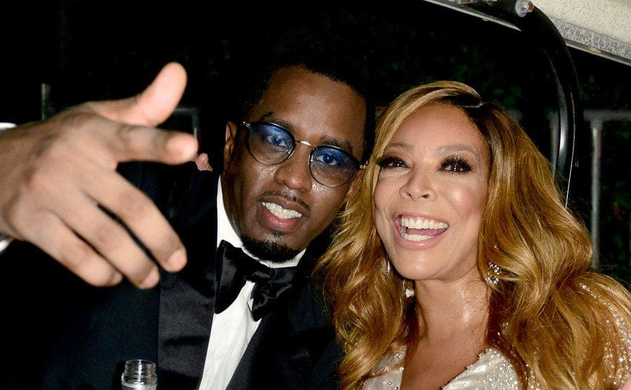 Puff Daddy and Wendy Williams backstage at an event