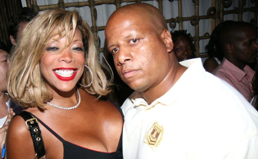 Wendy Williams with Kevin Hunter arriving to a red carpet event
