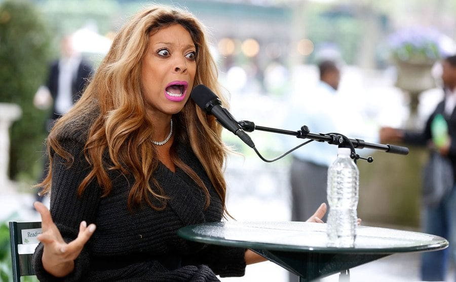 Wendy Williams getting emotional behind the mic in 2013