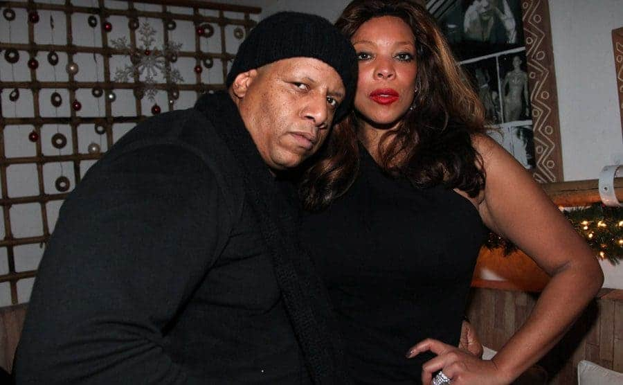 Kevin Hunter and Wendy Williams posing together at a party