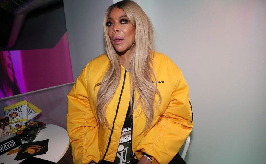 Wendy Williams sitting backstage at a documentary screening