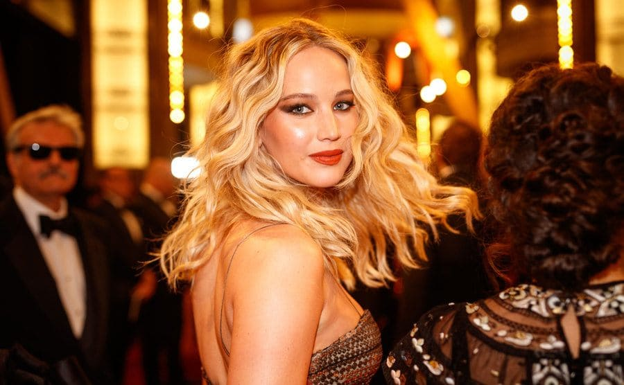 Jennifer Lawrence on the red carpet in 2018