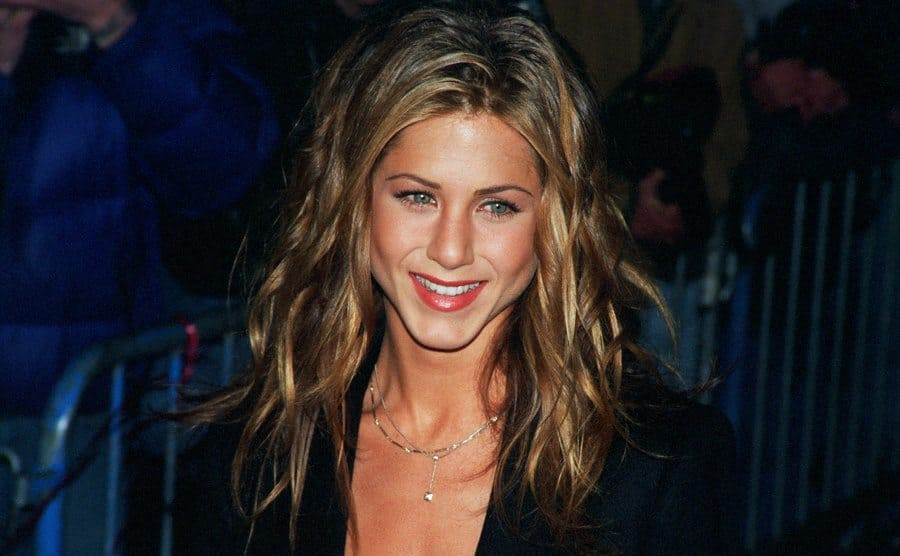 Jennifer Aniston on the red carpet circa 1990