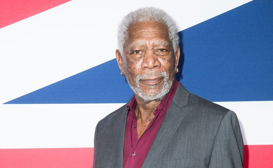 Morgan Freeman on the red carpet