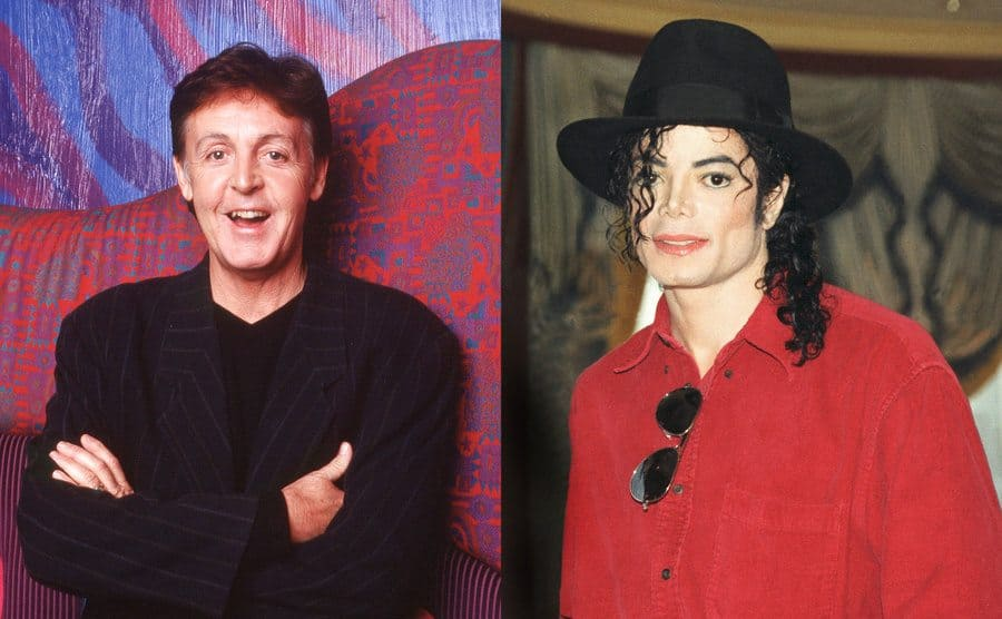Paul McCartney a portrait / Michael Jackson arriving to an event