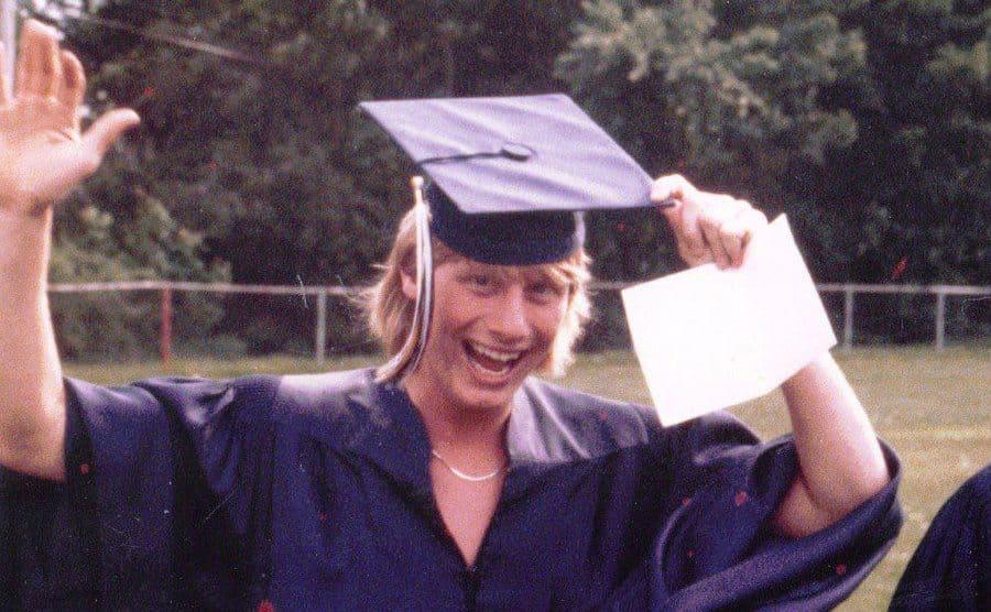 David Cox on his graduation day.