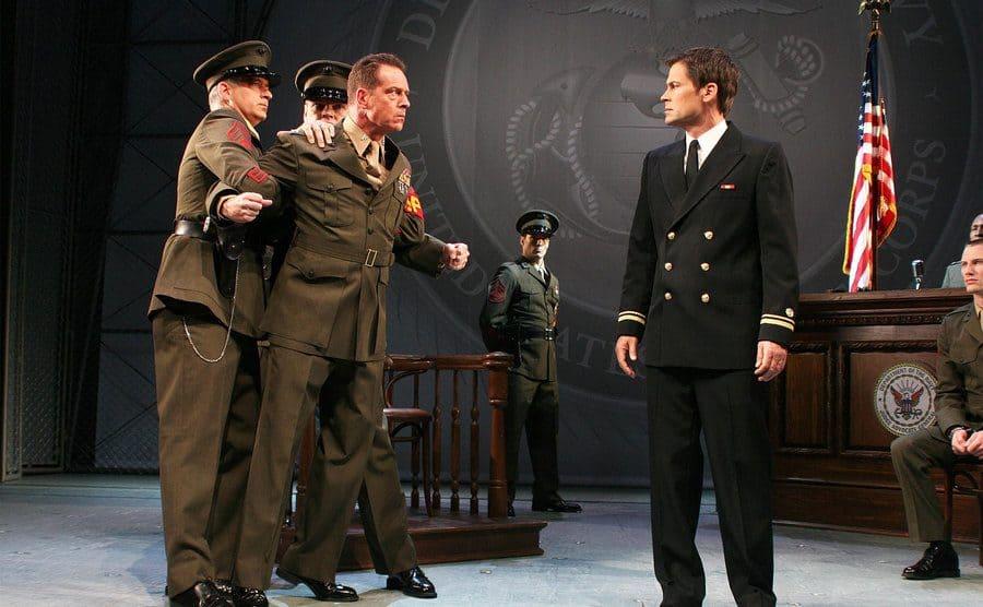 Rob Lowe stars as Lt Daniel Kaffee during