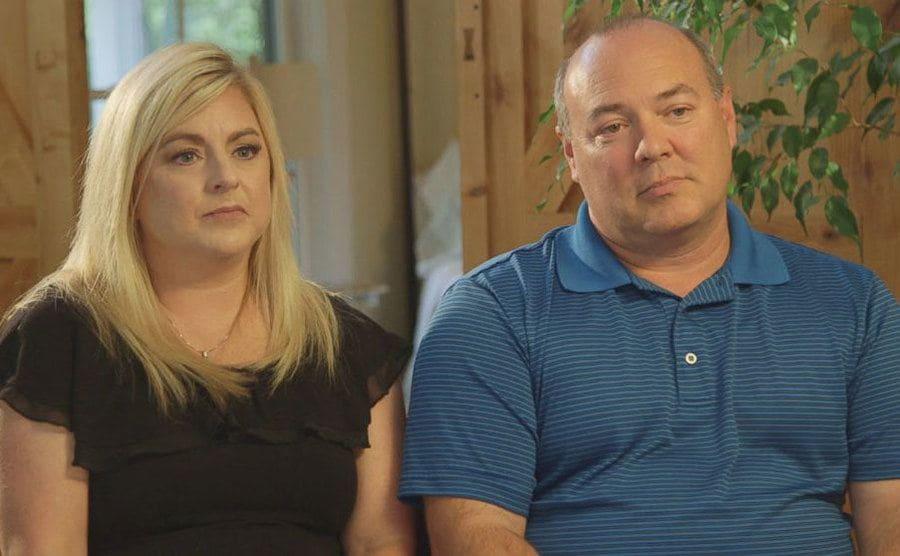 Emma Walker's parents giving an interview.
