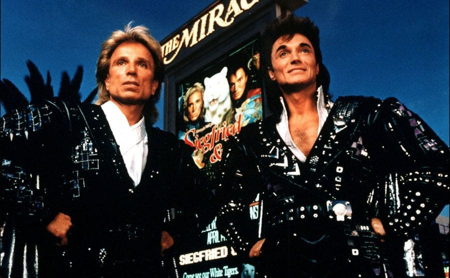 Siegfried and Roy in Las Vegas on December 01, 1993.