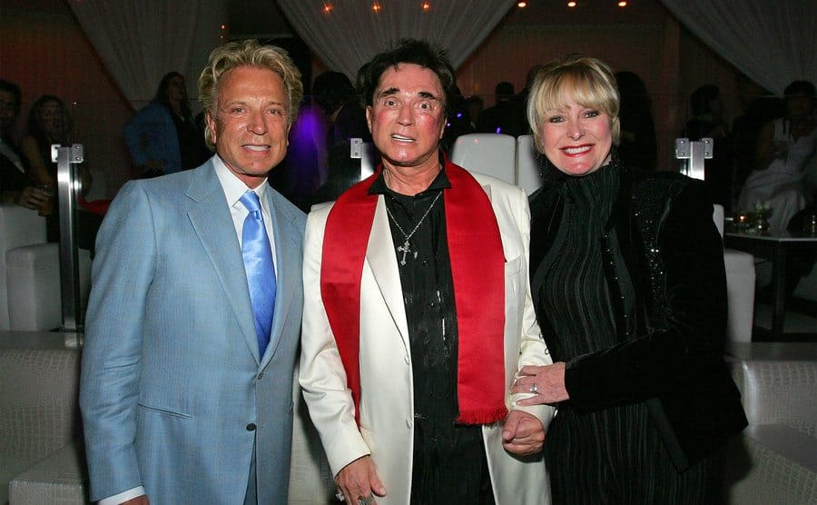 Siegfried Fischbacher and Roy Horn and their longtime friend Lynette Chappell attend an after party.