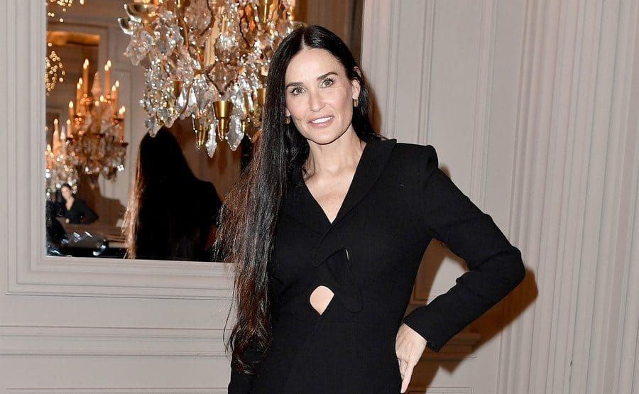 Demi Moore attends the Monot show as part of the Paris Fashion Week.