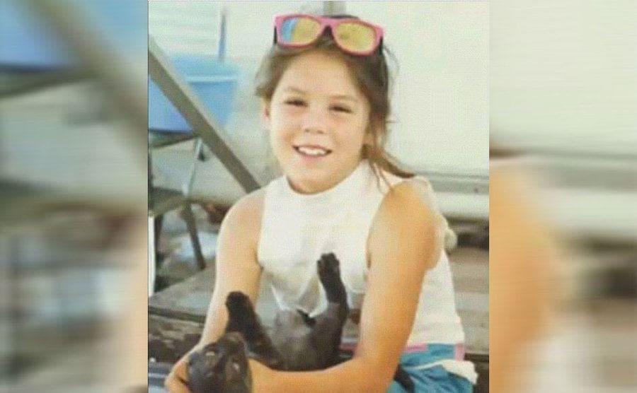 Kat Von D as a child