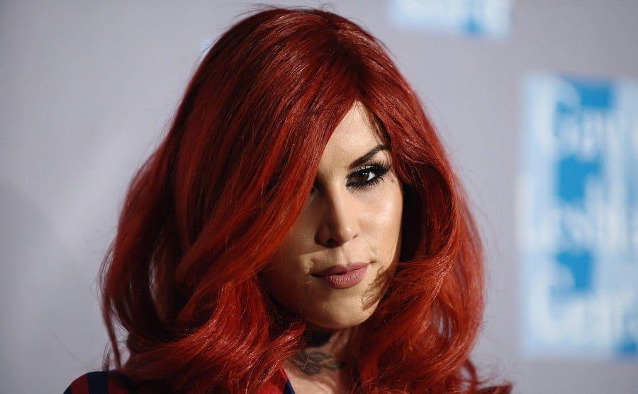Kat Von D on the red carpet