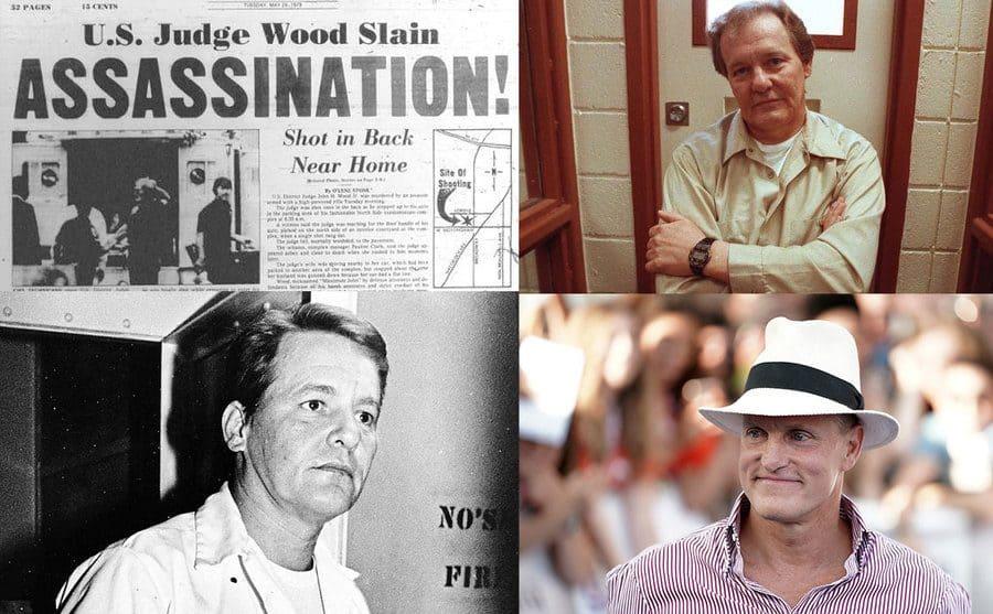 Newspaper headline / Charles Harrelson at the age of 65 / Charles Harrelson / Woody Harrelson