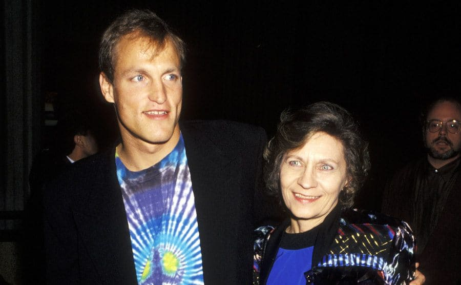 Woody Harrelson and Mother Dianne Harrelson at the Premiere of 'White Man Can't Jump'.