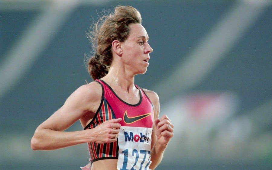 Mary Decker Slaney Running in the Olympic Trials
