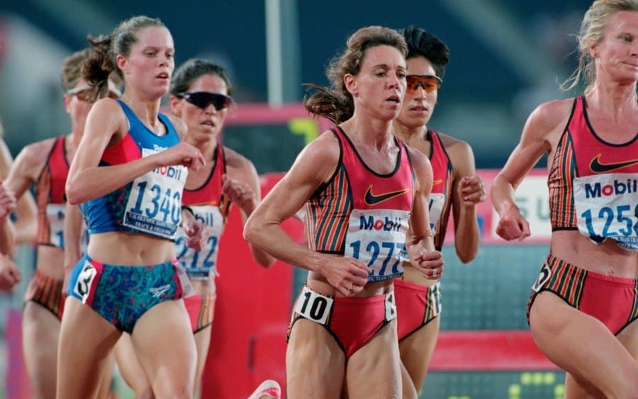 Mary Decker Slaney and Others in the 10,000 Meter Run