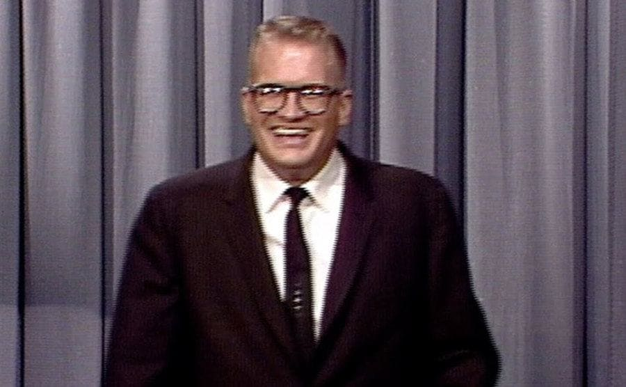 Drew Carey is on the stage of The Tonight Show for the first time.