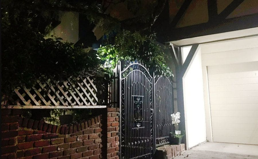 The entrance to the house of Amie Harwick in Hollywood Hills.
