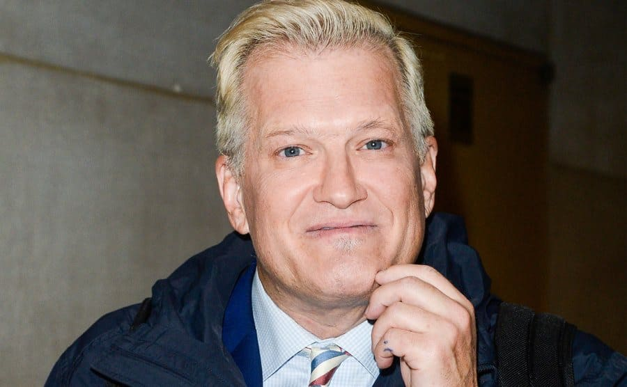 The paparazzi are spotting Drew Carey without his glasses after his appearance on the Today Show.