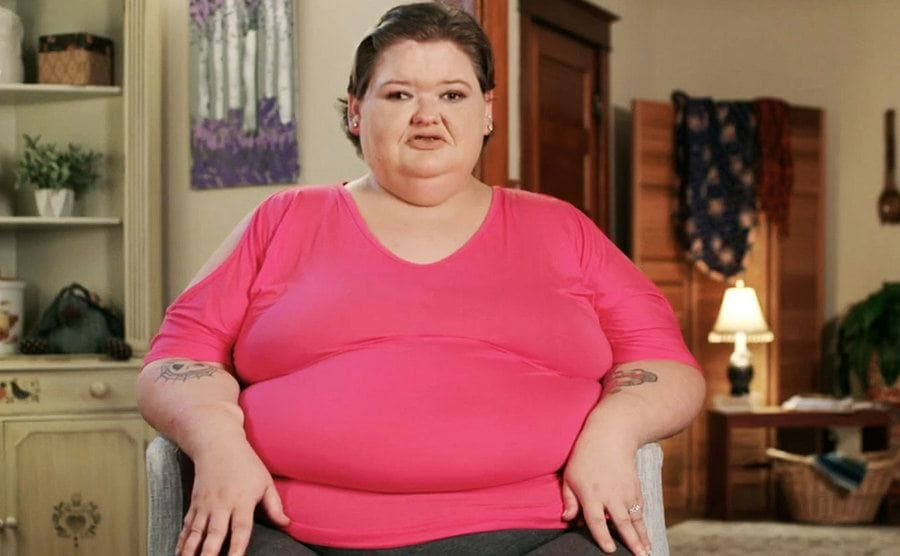 Amy at her current weight.