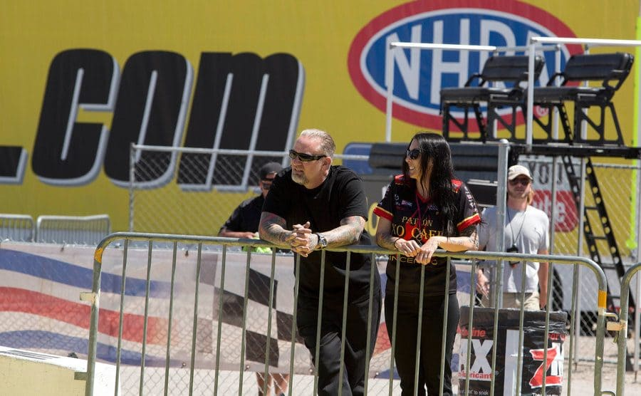 Jesse James and Alexis DeJoria are watching the Annual Summit Racing in Las Vegas.