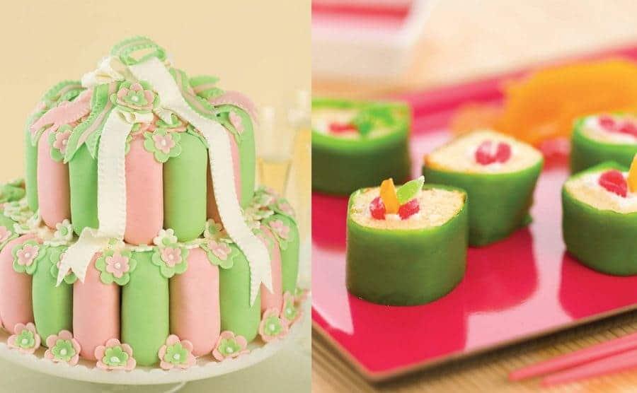 A Twinkie wedding Cake / Twinkies sushi