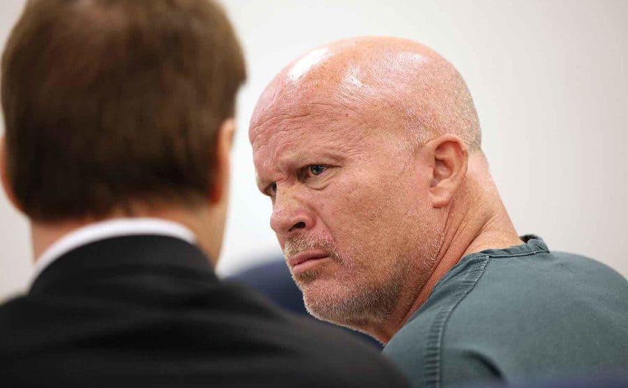 Kenneth Sands sits in court.