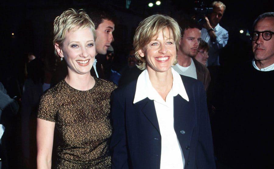 Anne Heche and Ellen Degeneres during