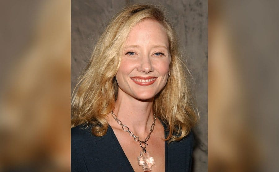 Anne Heche smiles for the press.