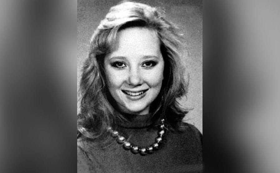 A high school photo of Heche.