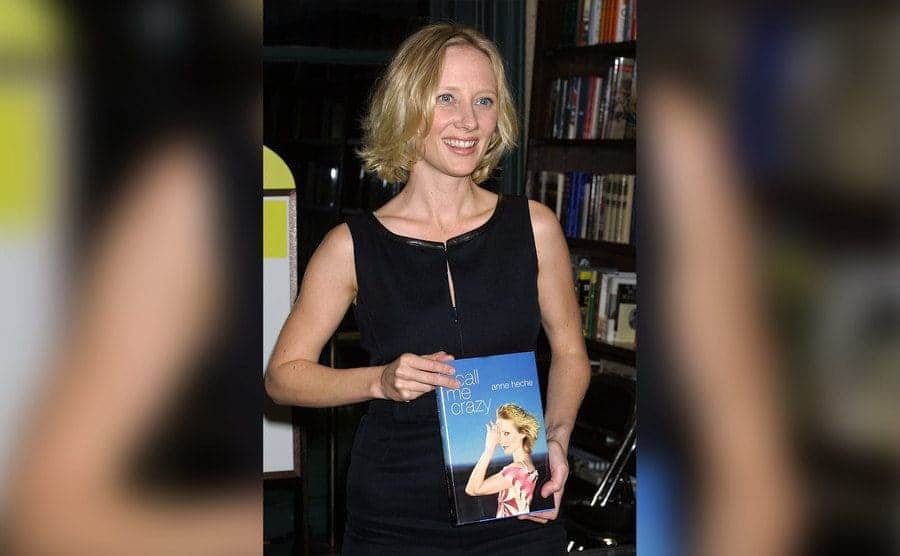 Anne Heche attends a book signing event for her new book.
