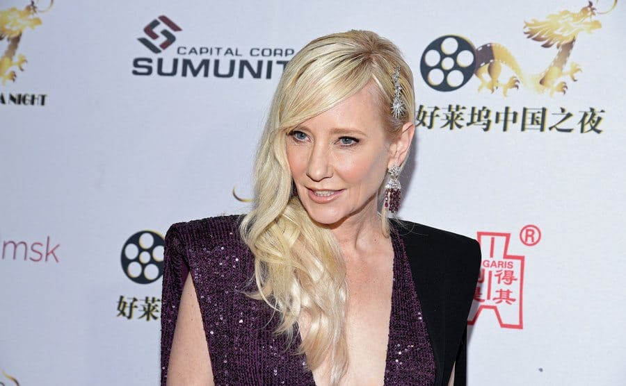 Anne Heche attends the Hollywood China Night Oscar viewing party.