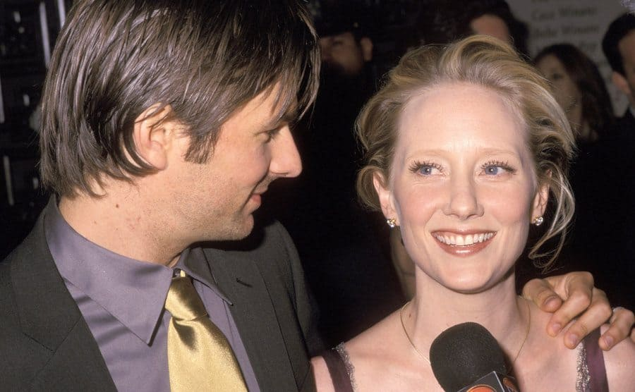 Anne Heche and Husband Coleman Laffoon during 56th Annual Tony Awards.