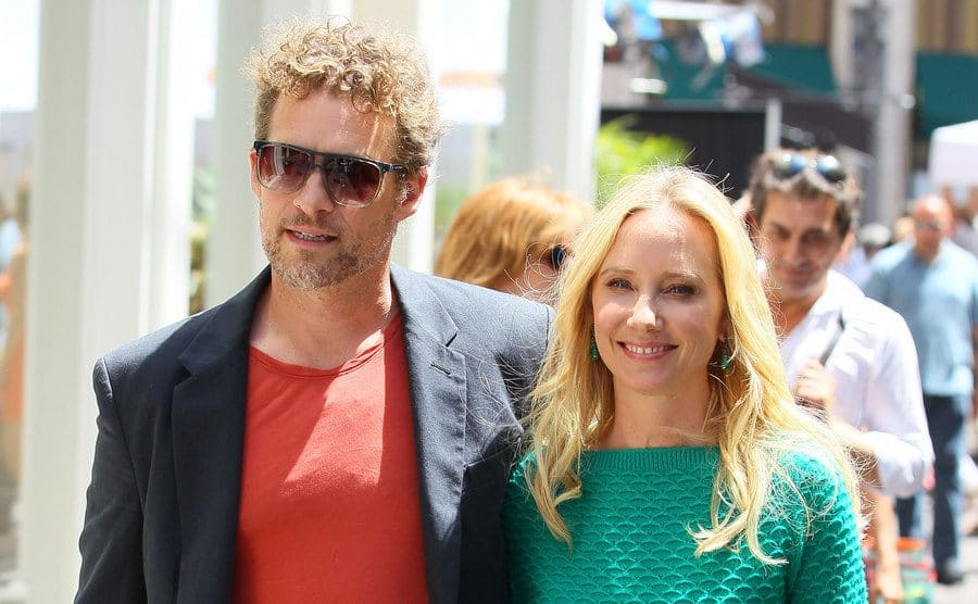 James Tupper and Anne Heche at the mall.