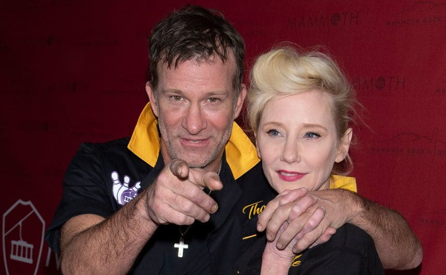 Thomas Jane and Anne Heche arrive at the Mammoth Film Festival.