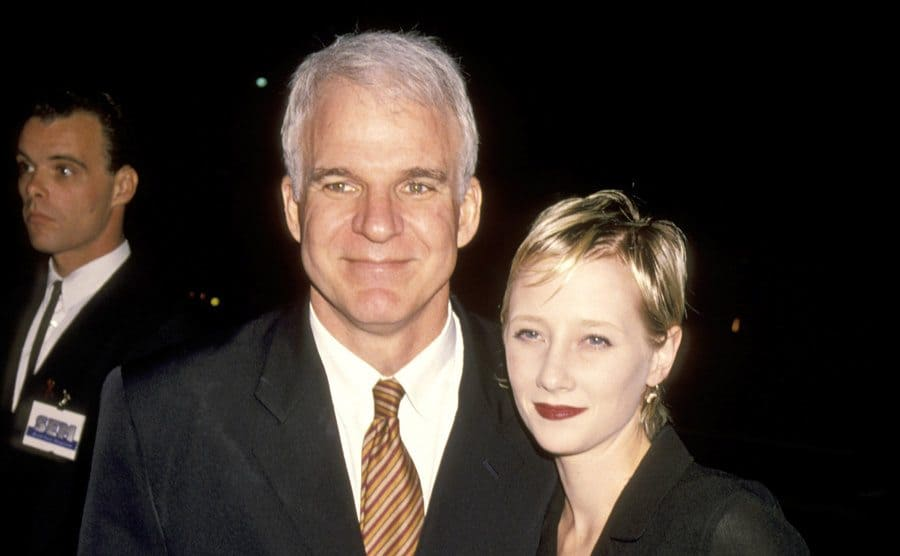 Steve Martin and Anne Heche at the Westwood Playhouse.